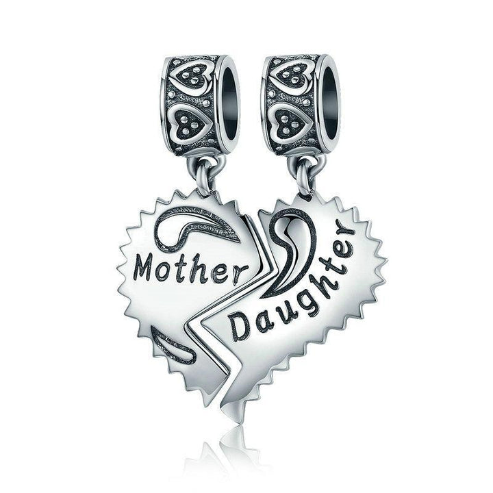 CNS Deals Charm 925 Sterling Silver Mother and Daughter Love Forever Charms