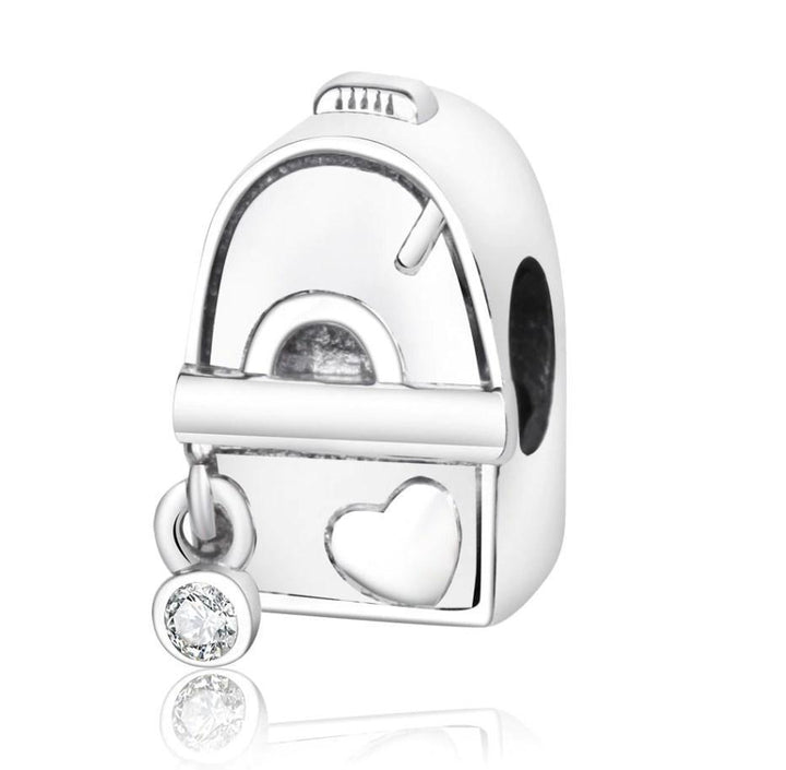 CNS Deals Charm Bead ADVENTURE Bag Backpack 925 Sterling Silver Charm Bead DIY S02