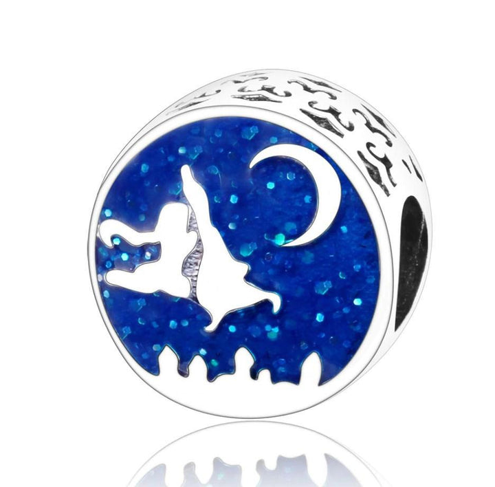 CNS Deals Charm Bead Aladdin And Jasmine Magic Carpet Ride Silver Charm Bead DIY S02