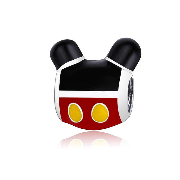 Funny Cartoon Character 925 Sterling Silver Charm Bead DIY S02