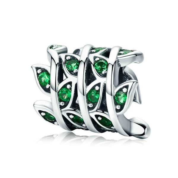 Green Tree of Life 100% 925 Sterling Silver Charm Bead for DIY B01