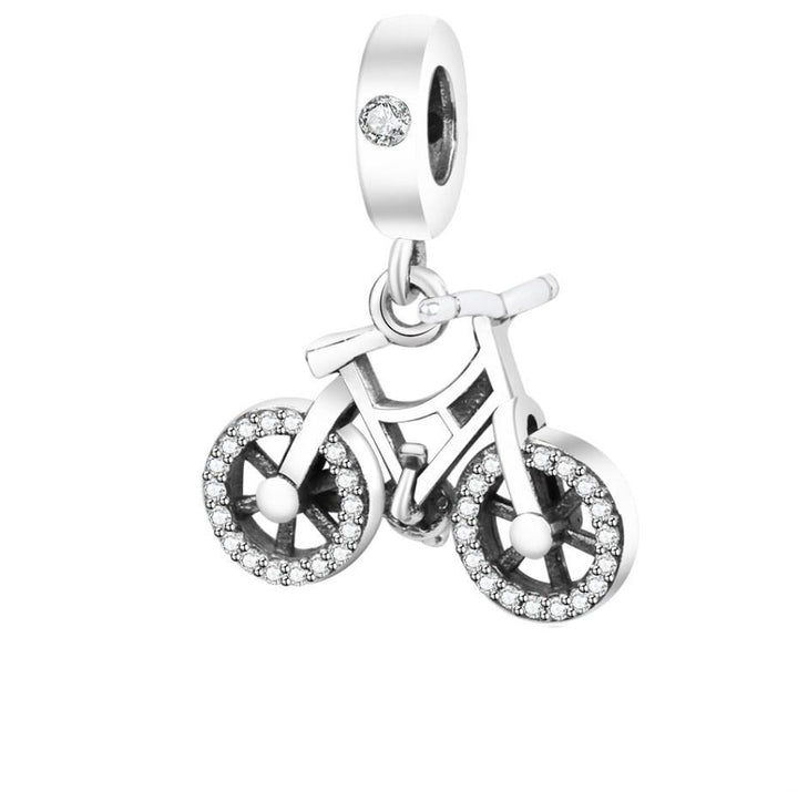CNS Deals Charm Pendant Childhood Bicycle Dangle 925 Sterling Silver Charm Pendant DIY S02