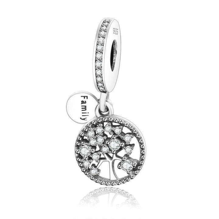 bef5ddbeb CZ Family Tree of Life 925 Sterling Silver Charm Pendant DIY S02
