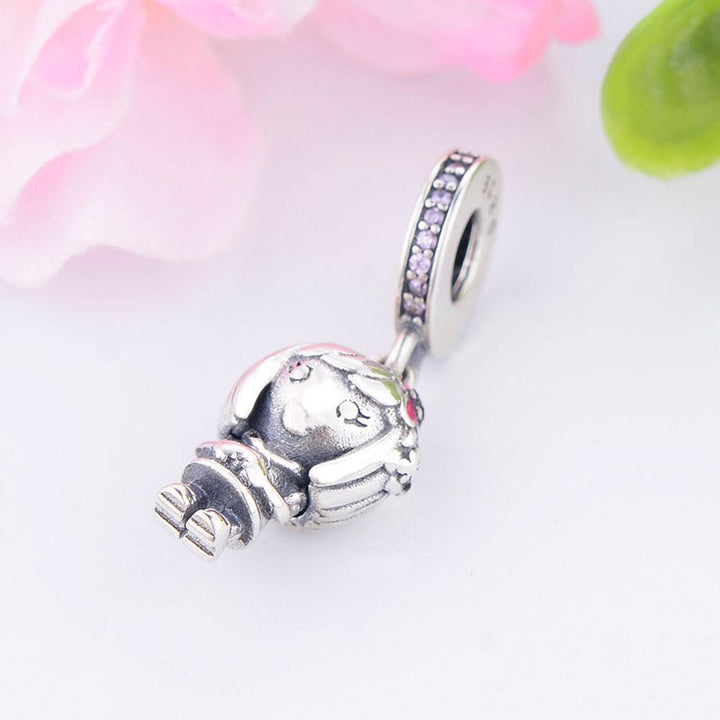 CNS Deals Charm Pendant Dorothy Beautiful Girl 925 Sterling Silver Charm Pendant DIY S02