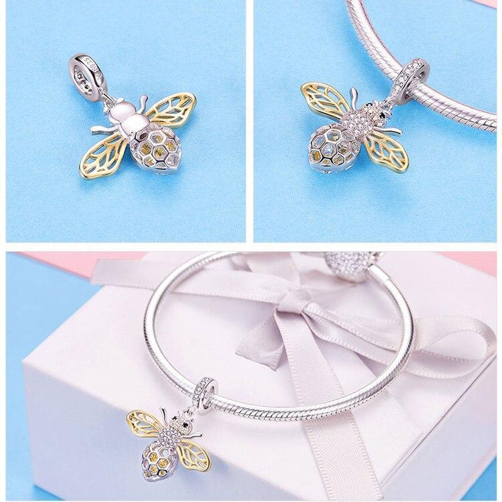 924efa7e3743b Queen Bumblebee Bee Insect 925 Sterling Silver Charm Pendant B01
