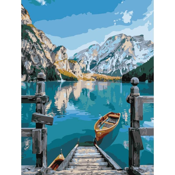Beautiful Bryce Lake Scenery DIY Painting by Numbers on Canvas Art Kit S711
