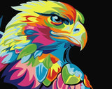 CNS Deals DIY Painting Colorful Eagle Abstract DIY Painting By Numbers on Canvas Kits