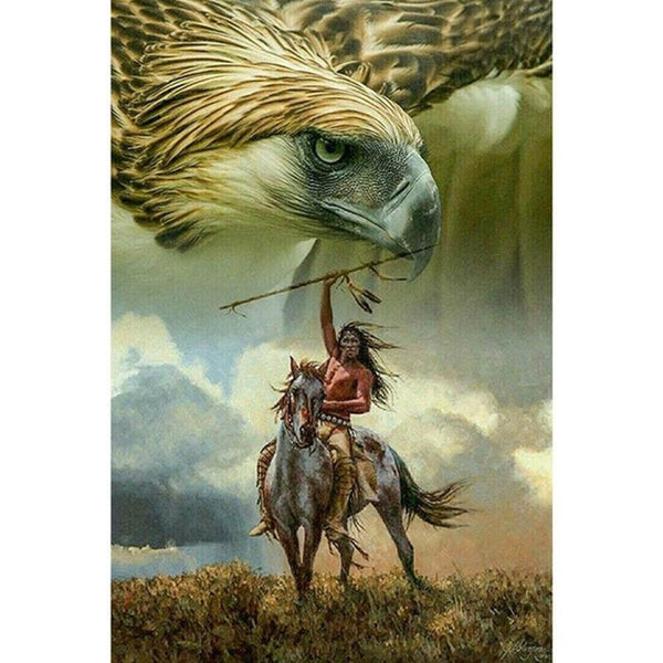 Hawk Summon from Tribal Chief DIY Painting by Numbers on Canvas Art Kit S711