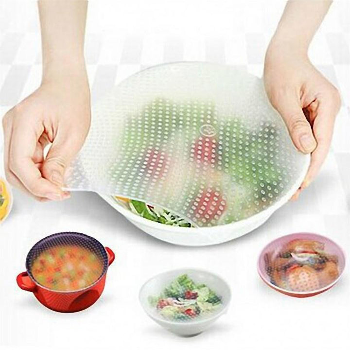 CNS Deals Kitchen Gadget Food Fresh Keeping Saran Wrap Multi-functional Reusable Silicone Cover