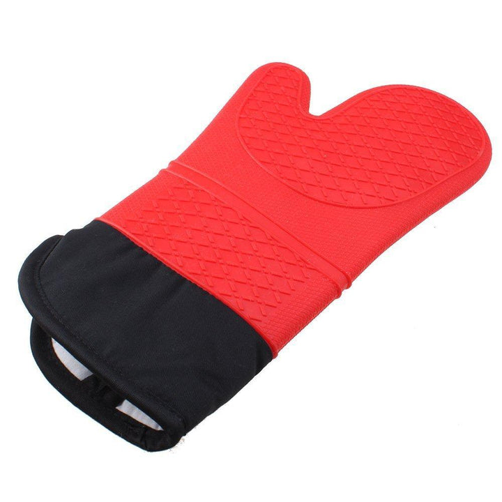 CNS Deals Kitchen Gadget Food Grade Heat Resistant Silicone Oven Mitten Cooking Glove (1 Piece)