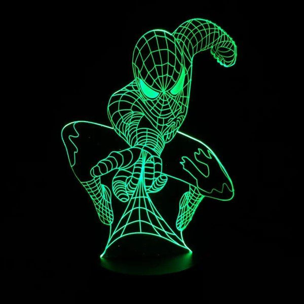 Marvel Superhero Spiderman 3D Table Lamp Optical Illusion