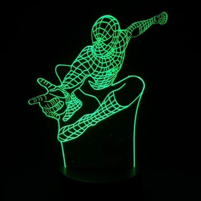 CNS Deals Lighting Type 3 Marvel Superhero Spiderman 3D Table Lamp Optical  Illusion