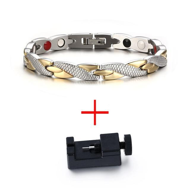 CNS Deals Men Bracelet Add tool Twisted Healthy Magnetic Therapy Bracelet for Women Men