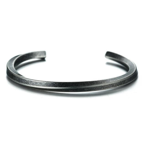 Retro Twisted Design Cuff Bangle Bracelet for Women Men