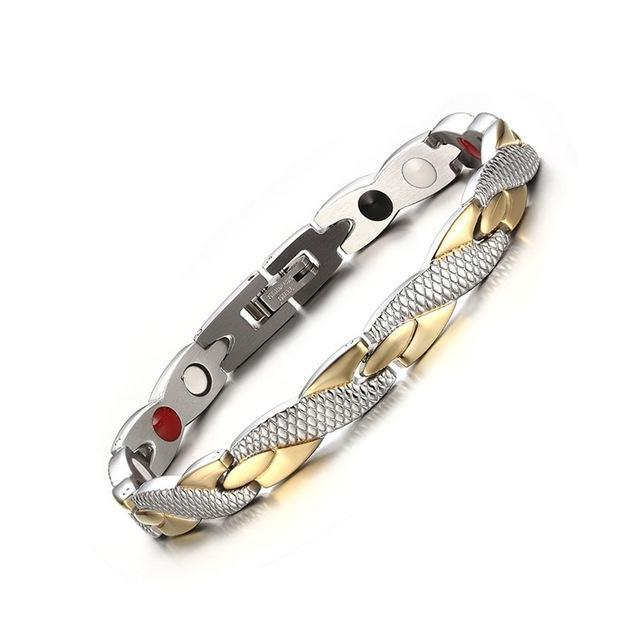 CNS Deals Men Bracelet only bracelet Twisted Healthy Magnetic Therapy Bracelet for Women Men