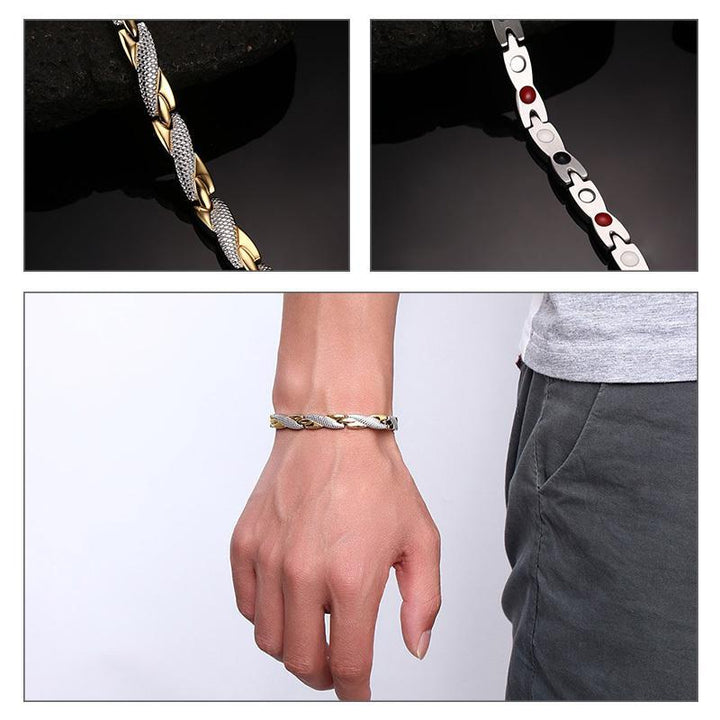 CNS Deals Men Bracelet Twisted Healthy Magnetic Therapy Bracelet for Women Men
