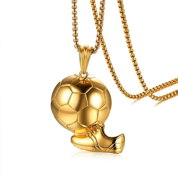 Football Soccer World Cup Pendant Necklace for Men
