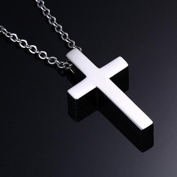 Classic Blank Cross Necklace Prayer Christ Men