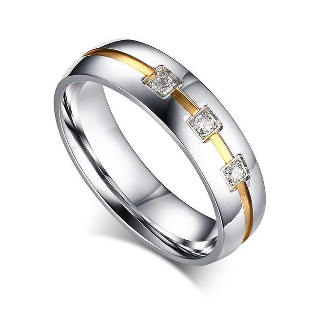 CNS Deals Men Ring 5 / 1 piece for women Matter Vintage Wedding Band Ring for Women Men CZ Stones