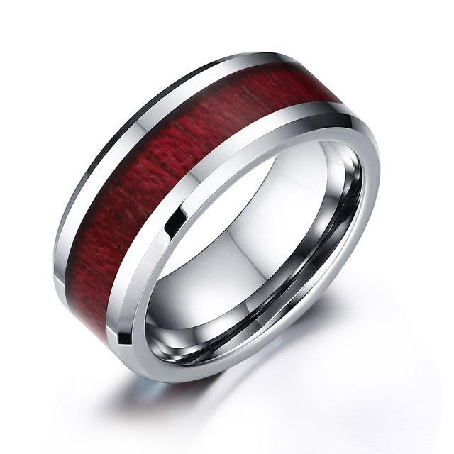 CNS Deals Men Ring 7 / TCR018 Tungsten Carbide Ring Men's Wedding Ring Retro Wood Grain