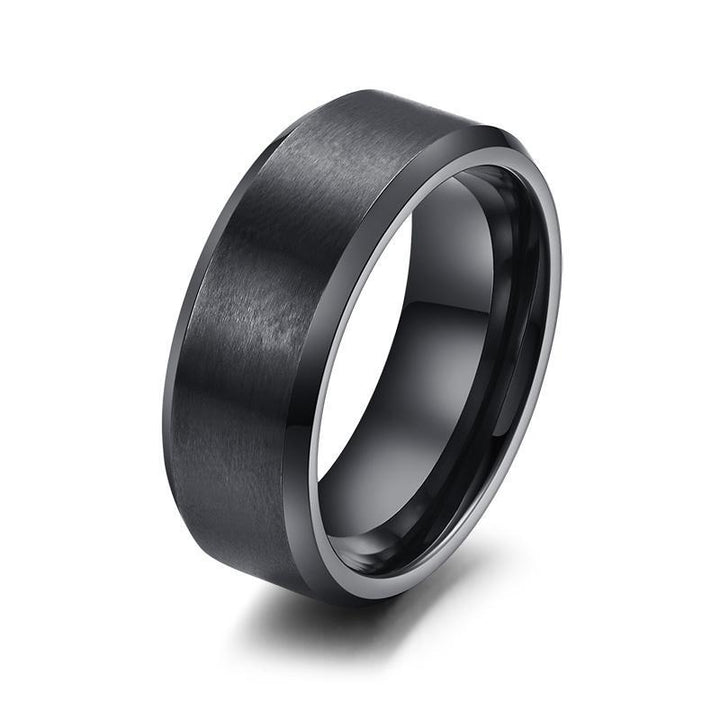CNS Deals Men Ring 8mm Stainless Steel Classic Ring Band for Men