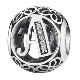 CNS Deals - The Deals Are Here Charm A Vintage A to Z 26 Letter Alphabet Bead Charms for Bracelets & Bangles