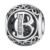 CNS Deals - The Deals Are Here Charm B Vintage A to Z 26 Letter Alphabet Bead Charms for Bracelets & Bangles
