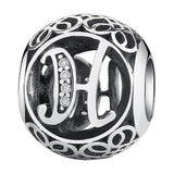 CNS Deals - The Deals Are Here Charm H Vintage A to Z 26 Letter Alphabet Bead Charms for Bracelets & Bangles