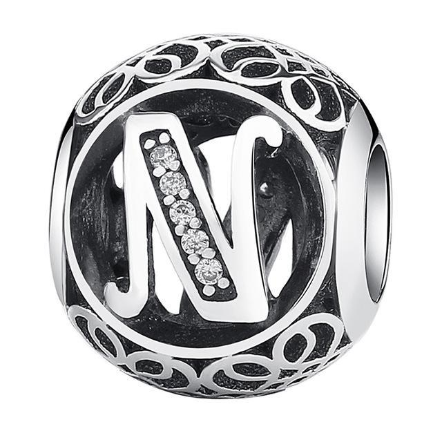 CNS Deals - The Deals Are Here Charm N Vintage A to Z 26 Letter Alphabet Bead Charms for Bracelets & Bangles