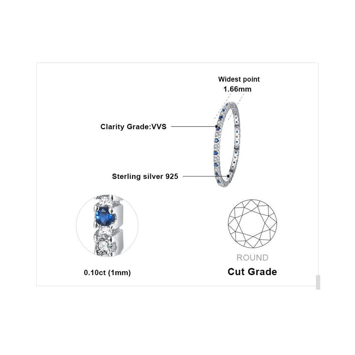 CNS Deals - The Deals Are Here Women Ring Exquisite Round Blue Spinel Wedding Band Ring
