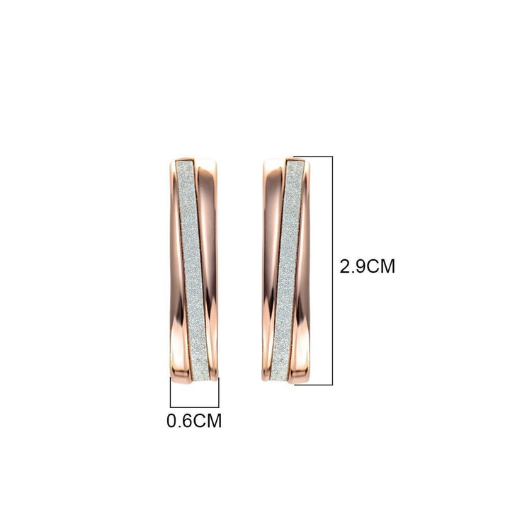 CNS Deals Women Earrings Elegant Shiny Trail Silver & Gold Plated Fashion Stud Earrings V02