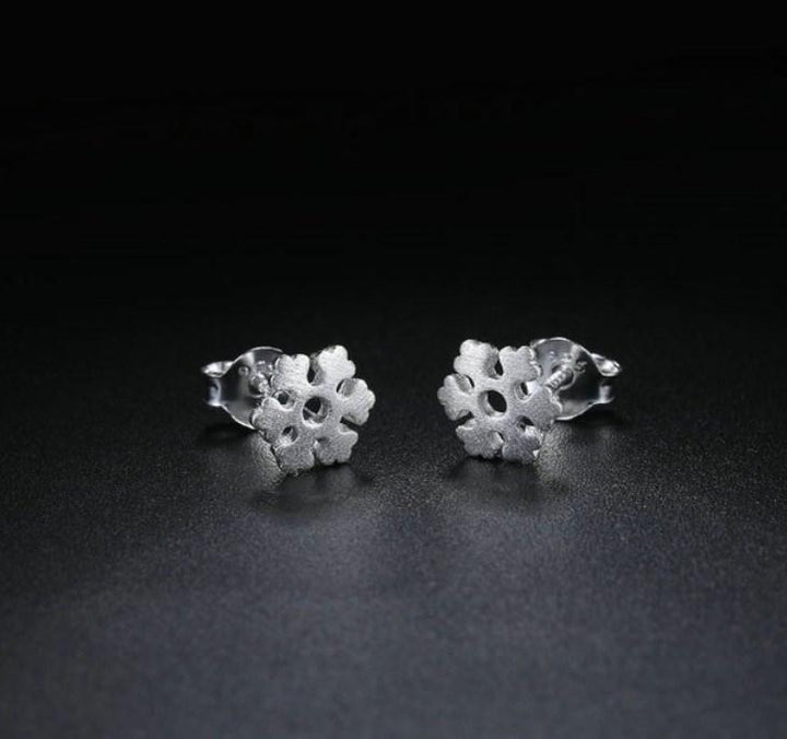 CNS Deals Women Earrings Little Snowflake 100% 925 Sterling Silver Stud Earrings