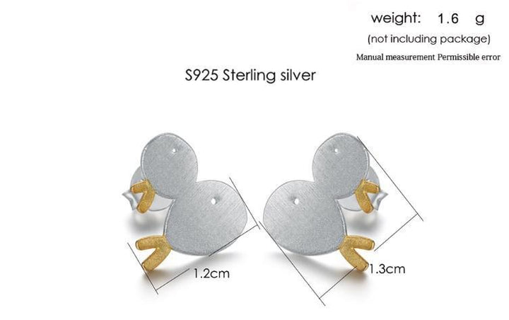 CNS Deals Women Earrings Lovely Wire Drawing 2 Little Fish Silver & Gold Stud Earrings