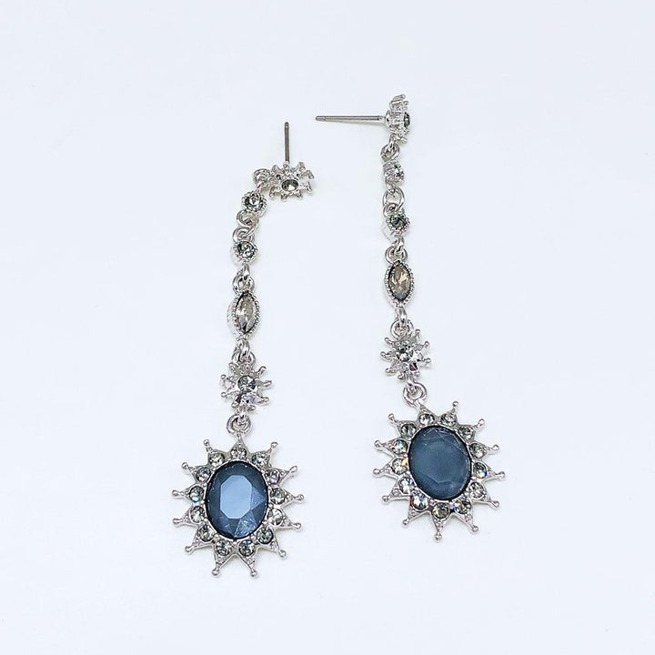 CNS Deals Women Earrings Silver Stunning Crystal Sunflower Hanging Gold Plated Dangle Earrings V02