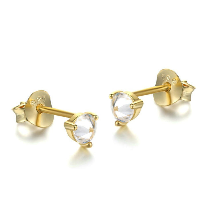 tiny diamond stud evan gold simple y yellow disc pave sydney earrings