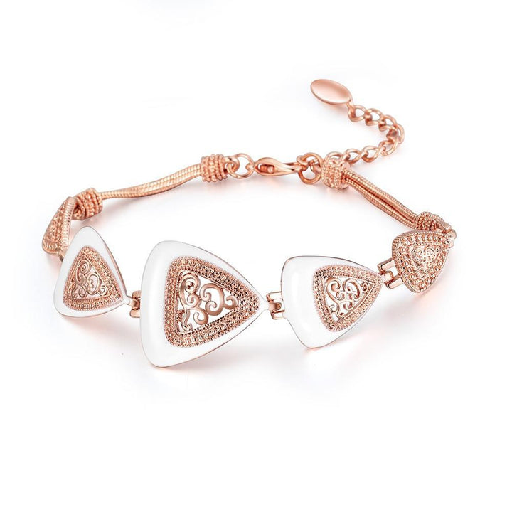 CNS Deals Women Jewelry Set Bohemian Hollow Triangle Rose Gold Plated Fashion Jewelry Set V02