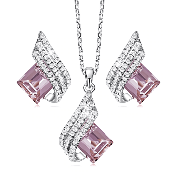 Luxury Fashion Cubic Zirconia 925 Sterling Silver Jewelry Set C01