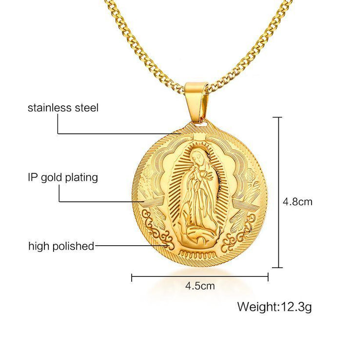 CNS Deals Women Necklace Gold Plated Mother of God Pendant Necklace For Men Women
