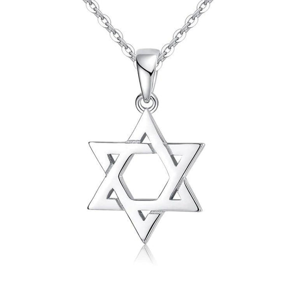 Fancy Star of David Pure 925 Sterling Silver Pendant Necklace K01