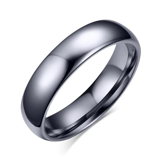 CNS Deals Women Ring 5 / silver color Classic 4.0mm Tungsten Ring Band for Women Hand Polishing
