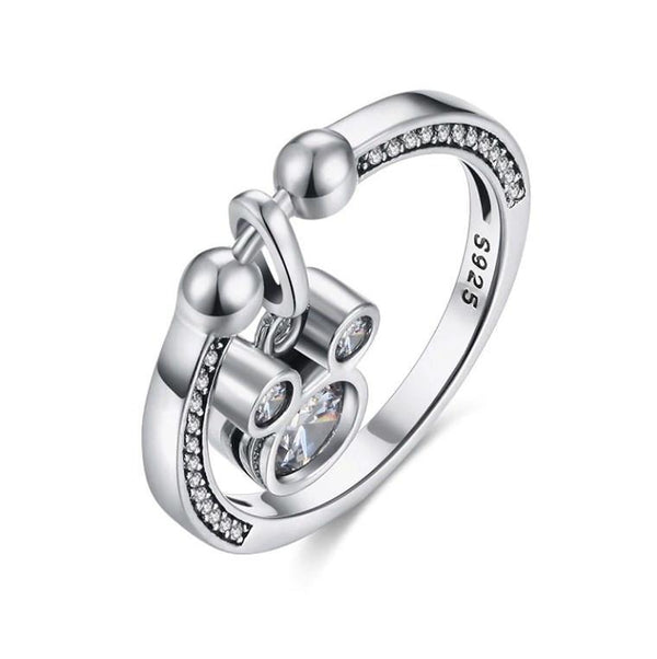 Dazzling Cute Mickey Authentic 925 Sterling Silver Fashion Ring K01