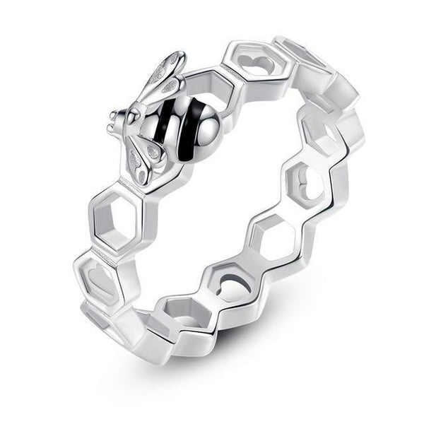 Vivid Honeycomb Authentic 925 Sterling Silver Fashion Ring K01