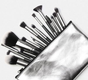 20 pcs Make Up Brush Set with Leather Case