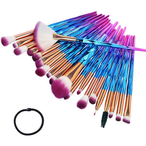 20 pcs Diamond Make Up Brush Set