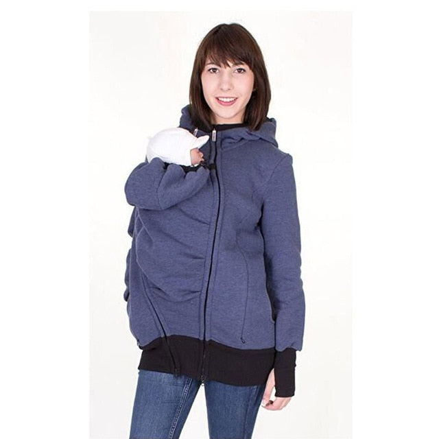 Baby Carrier Maternity Kangaroo Pouch Pocket Hoodie Sweater