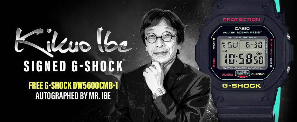 Kikuo Ibe Signed G-Shock
