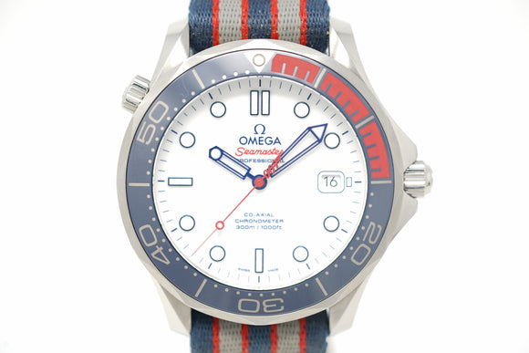 Pre-Owned Omega Seamaster Commander's Limited Edition 212.32.41.20.04.001 with Strap & Bracelet