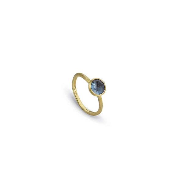Marco Bicego Jaipur & London Blue Topaz Yellow Gold Ring AB471-TPL01-Y
