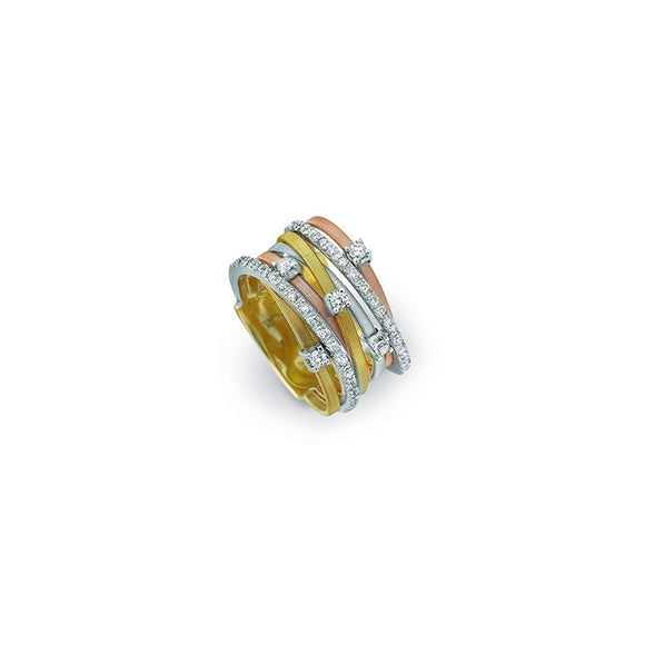 Marco Bicego Goa Yellow, White and Rose Gold Ring AG277-B2-3C