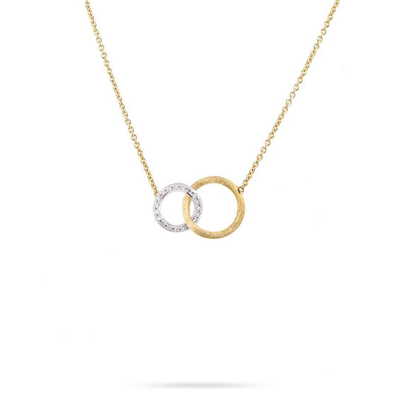 Marco Bicego Diamond Jaipur Link Yellow Gold Necklace CB1674-B-YW